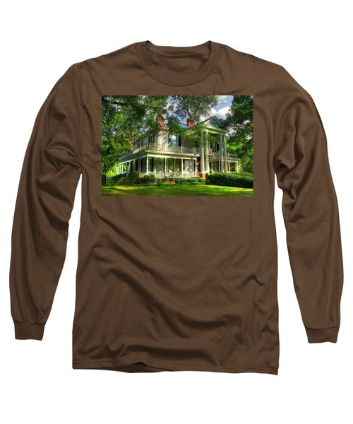 A Southern Bell The Carlton Home Art Southern Antebellum Art Long Sleeve T-Shirt by Reid Callaway