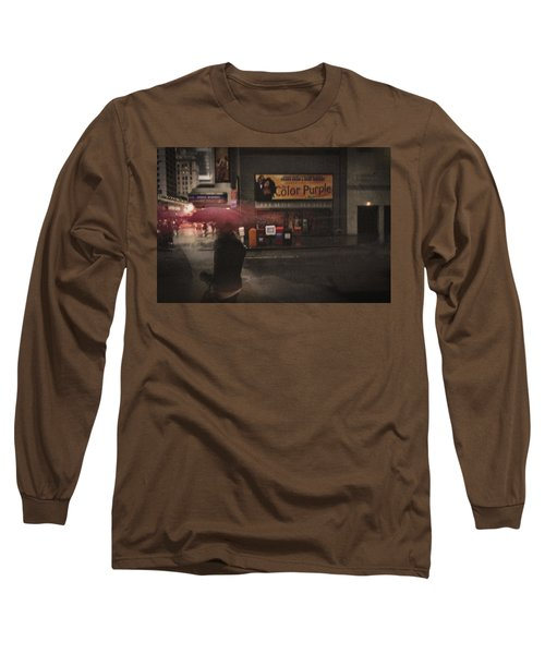 The Color Purple Long Sleeve T-Shirt by Linda Unger