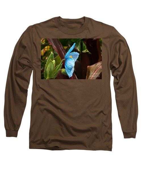 The Colors Of The Himalayan Blue Poppy Long Sleeve T-Shirt