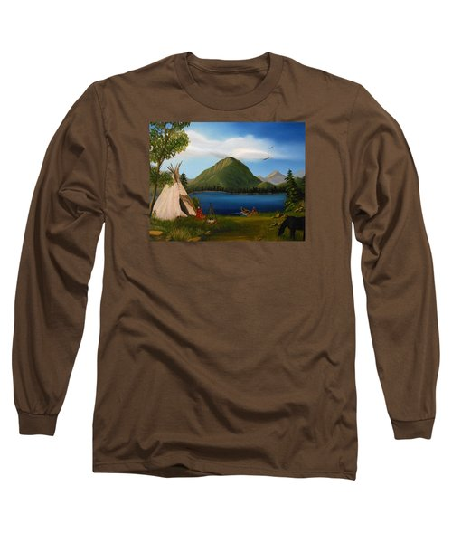 Long Sleeve T-Shirt featuring the painting Dawn Of Tohidu by Sheri Keith