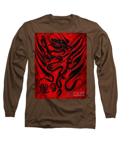 The Dragon Long Sleeve T-Shirt by Roz Abellera Art