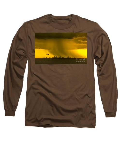 The Floating City  Long Sleeve T-Shirt by Marvin Spates