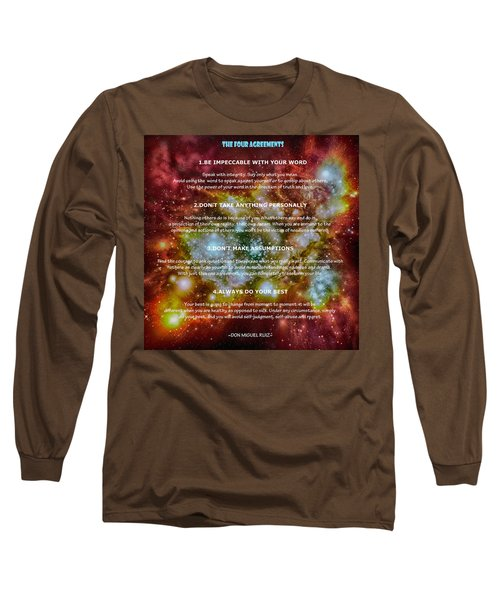 The Four Agreements-wisdom Of The Toltecs Long Sleeve T-Shirt