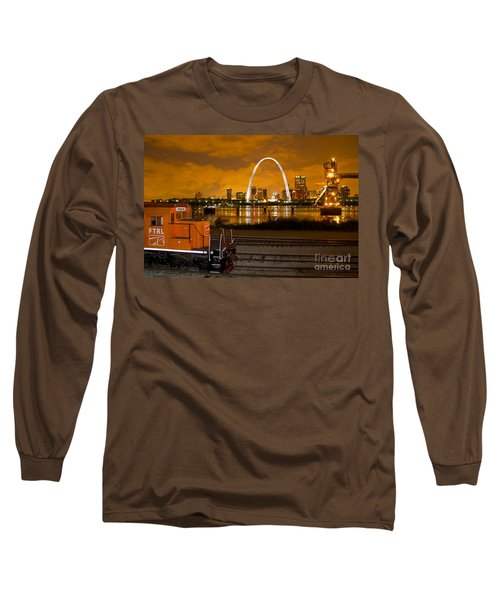 The Ftrl Railway With St Louis In The Background Long Sleeve T-Shirt by Garry McMichael