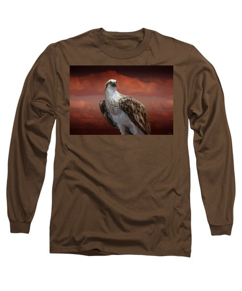 Long Sleeve T-Shirt featuring the photograph The Glory Of An Eagle by Holly Kempe