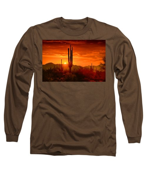 The Golden Southwest Skies  Long Sleeve T-Shirt