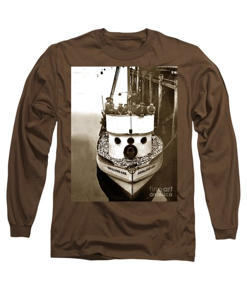 The Happy Crew Of The Fishing Boat  Geraldine- Ann Monterey California 1939 Long Sleeve T-Shirt