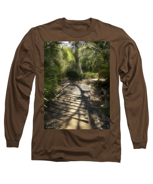 Long Sleeve T-Shirt featuring the photograph The Journey Along The Path Comes With Light And Shadows by Lucinda Walter