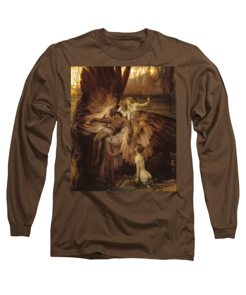 The Lament For Icarus Long Sleeve T-Shirt by Herbert James Draper