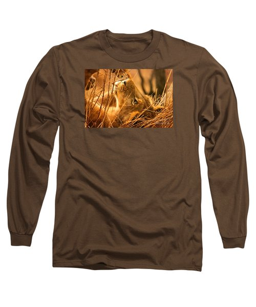 The Lion Muse Long Sleeve T-Shirt by Michael Cinnamond