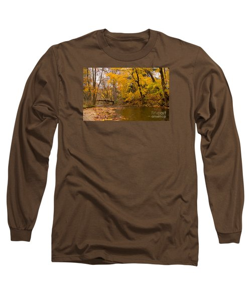 Long Sleeve T-Shirt featuring the photograph The Little Bridge Over Valley Creek by Rima Biswas