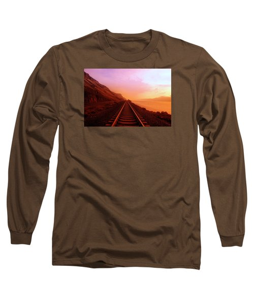 Long Sleeve T-Shirt featuring the photograph The Long Walk To No Where  by Jeff Swan
