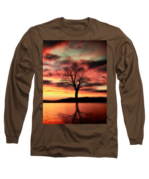 The Memory Tree Long Sleeve T-Shirt by Ally  White