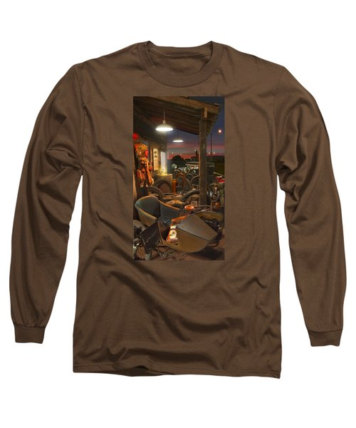 The Motorcycle Shop 2 Long Sleeve T-Shirt by Mike McGlothlen