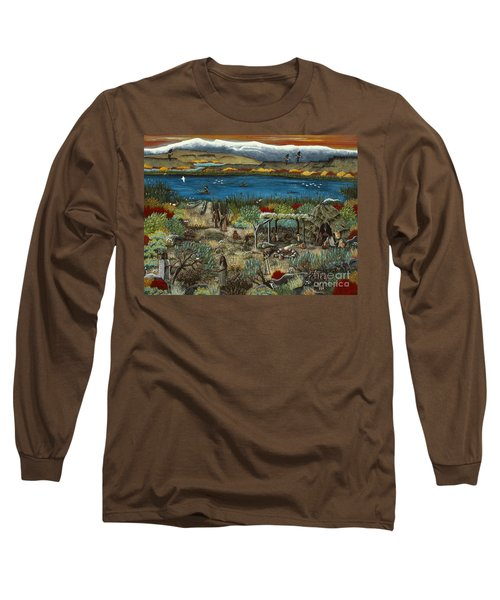Long Sleeve T-Shirt featuring the painting The Oregon Paiute by Jennifer Lake