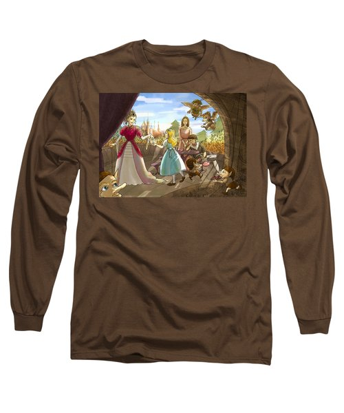 Long Sleeve T-Shirt featuring the painting The Palace Balcony by Reynold Jay
