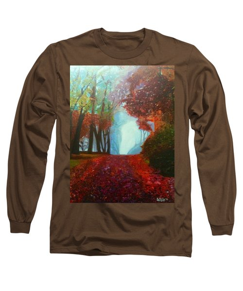 Long Sleeve T-Shirt featuring the painting The Red Cathedral - A Journey Of Peace And Serenity by Belinda Low