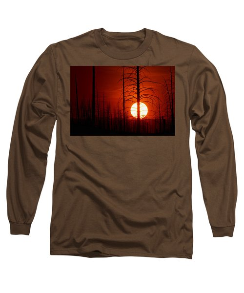 The Red Planet Long Sleeve T-Shirt by Jim Garrison
