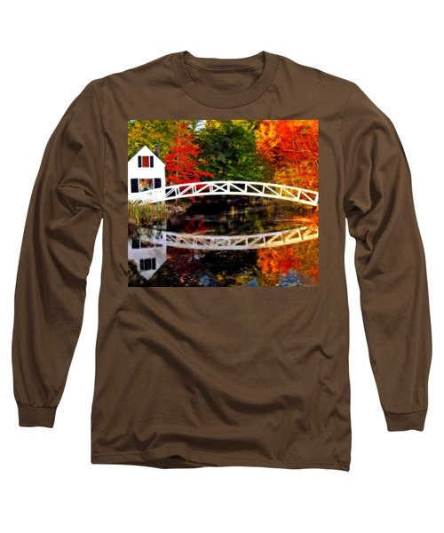 The Somesville Bridge Long Sleeve T-Shirt by Bill Howard