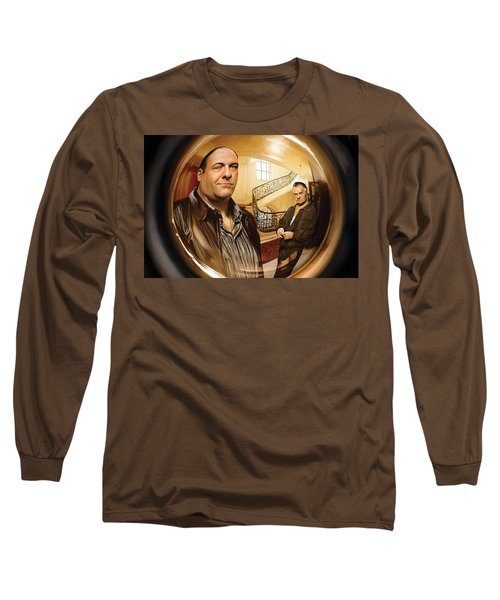 Long Sleeve T-Shirt featuring the painting The Sopranos  Artwork 1 by Sheraz A