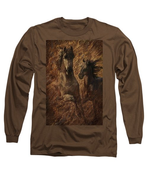 The Spirit Of Black Sterling Long Sleeve T-Shirt by Melinda Hughes-Berland