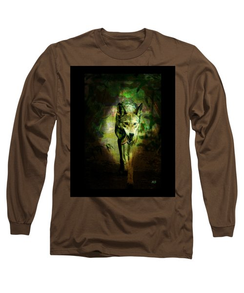 Long Sleeve T-Shirt featuring the digital art The Spirit Of The Wolf by Absinthe Art By Michelle LeAnn Scott