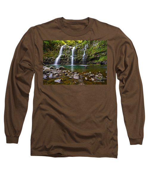 The Three Bears - The Stunningly Beautiful Upper Waikani Falls. Long Sleeve T-Shirt