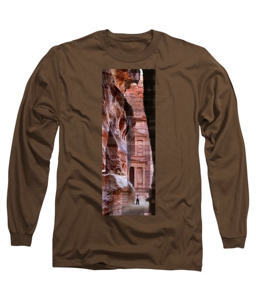 The Treasury Of Petra Jordan Long Sleeve T-Shirt