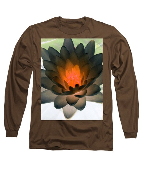 Long Sleeve T-Shirt featuring the photograph The Water Lilies Collection - Photopower 1036 by Pamela Critchlow