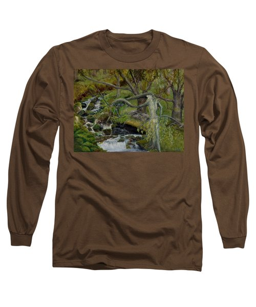 The Willow Woman Washing Her Hair Long Sleeve T-Shirt