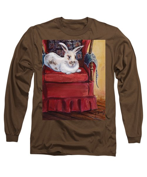 Long Sleeve T-Shirt featuring the painting This Is My Chair by Joy Nichols