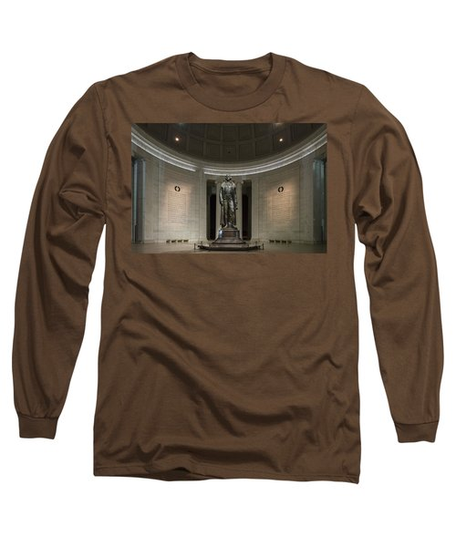 Long Sleeve T-Shirt featuring the photograph Thomas Jefferson Memorial At Night by Sebastian Musial