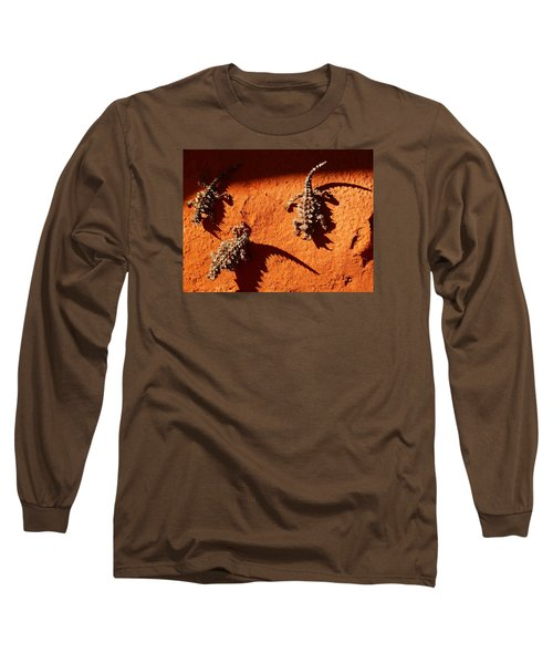 Long Sleeve T-Shirt featuring the photograph Thorny Devils by Evelyn Tambour