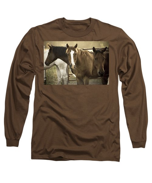 Long Sleeve T-Shirt featuring the photograph Three Amigos by Steven Bateson