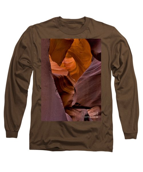 Long Sleeve T-Shirt featuring the photograph Three Faces In Sandstone by Mae Wertz