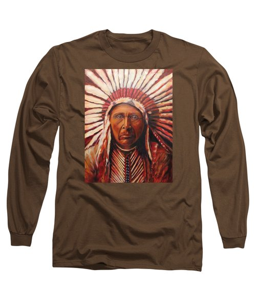 Three Horses, Native American  Long Sleeve T-Shirt