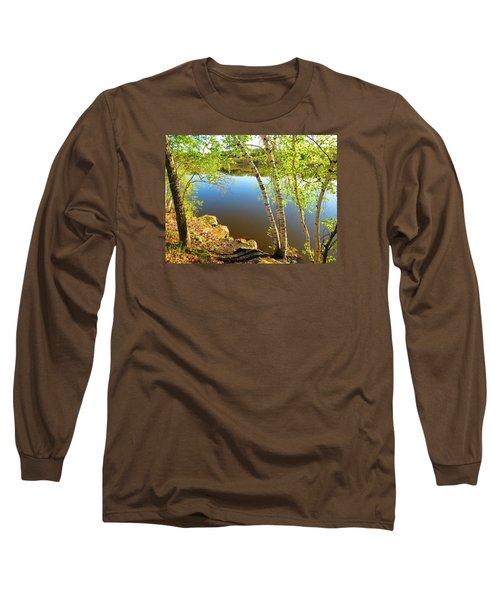 Through The Birch Long Sleeve T-Shirt by MTBobbins Photography