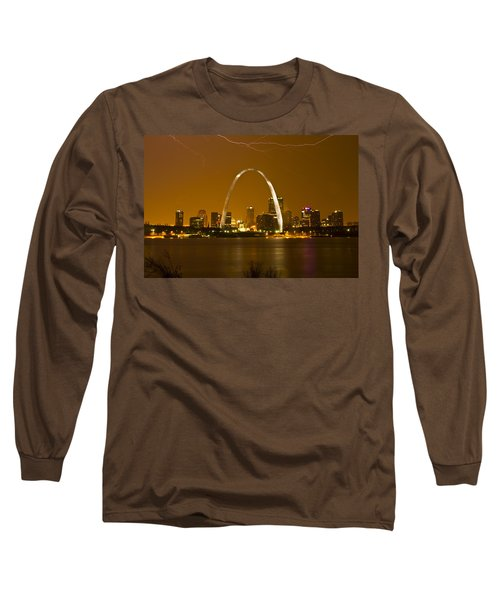 Thunderstorm Over The City Long Sleeve T-Shirt by Garry McMichael