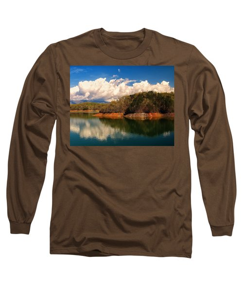 Thunderstorm Rolling Over The Smokies Long Sleeve T-Shirt by Chris Flees