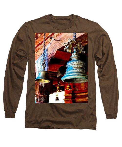 Tibetan Bells Long Sleeve T-Shirt by Greg Fortier