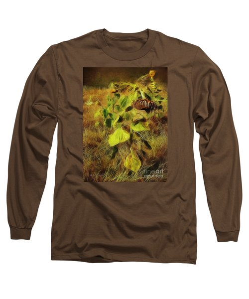 Long Sleeve T-Shirt featuring the digital art Time Is The Enemy by Rhonda Strickland