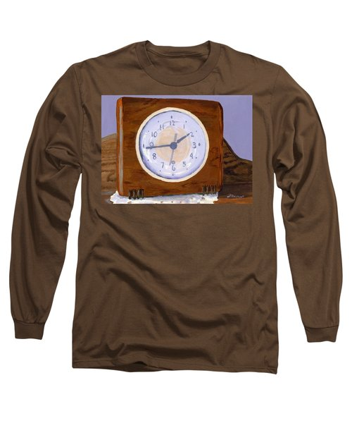 Long Sleeve T-Shirt featuring the painting Time Will Tell by Lynne Reichhart