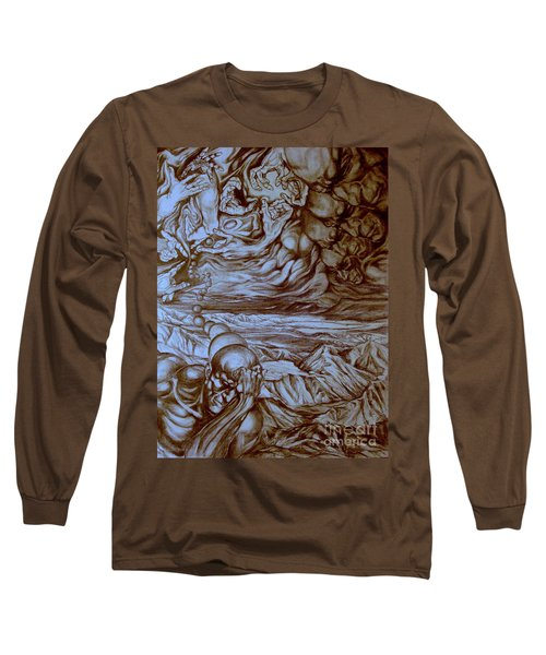 Titan In Desert Long Sleeve T-Shirt by Mikhail Savchenko