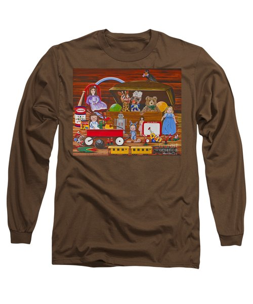 Long Sleeve T-Shirt featuring the painting Toys In The Attic by Jennifer Lake