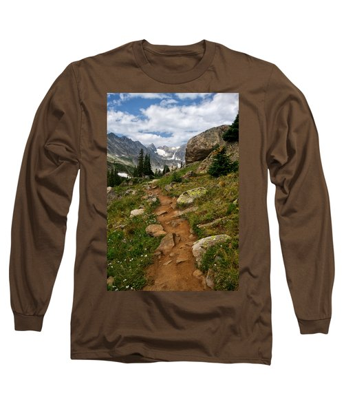 Trail To Lake Isabelle Long Sleeve T-Shirt by Ronda Kimbrow