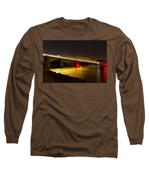 Train Lights In The Night Long Sleeve T-Shirt