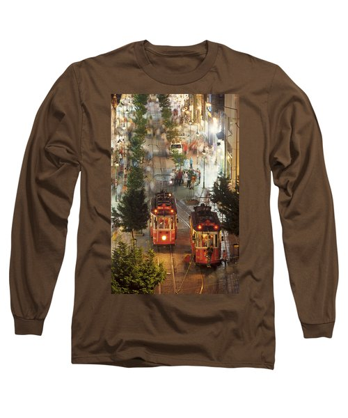 Trams In Beyoglu Long Sleeve T-Shirt