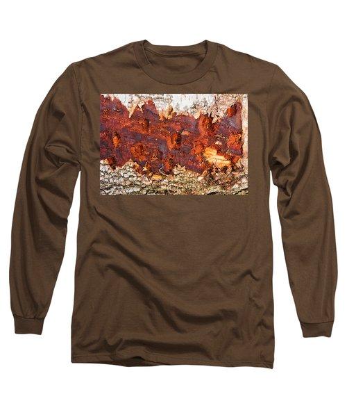 Tree Closeup - Wood Texture Long Sleeve T-Shirt by Matthias Hauser