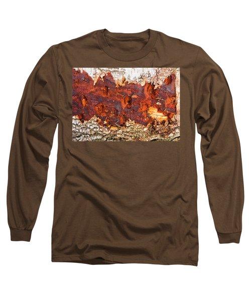 Tree Closeup - Wood Texture Long Sleeve T-Shirt