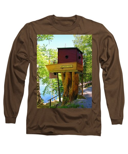 Long Sleeve T-Shirt featuring the photograph Tree House Boat by Sherman Perry